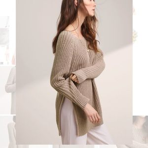 WILFRED RANDONNAI LINEN AND COTTON KNIT SWEATER